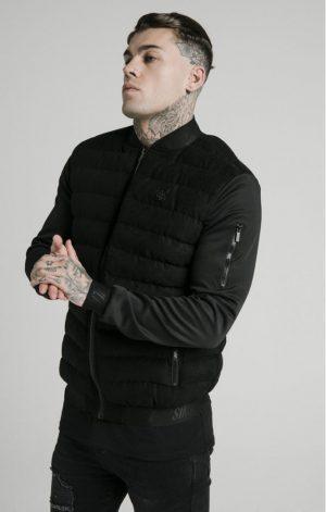SikSilk Storm Bubble Jacket – Black