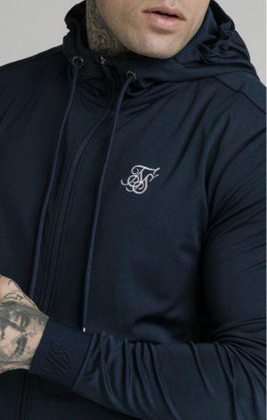 SikSilk Agility Zip Through Hoodie – Navy