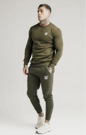 SikSilk Muscle Fit Jogger ? Khaki