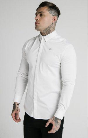 SikSilk  L/S Cotton Shirt – White