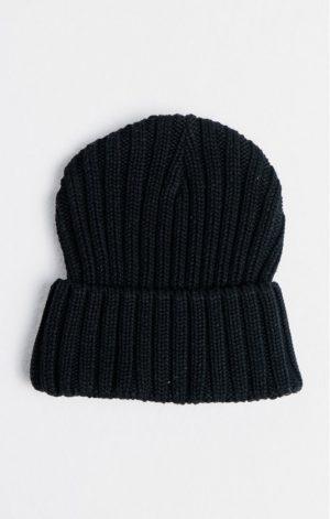 SikSilk Rib Cuff Knit Beanie – Black & Gold