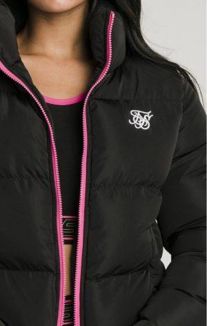 SikSilk  Roma Crop Jacket – Black