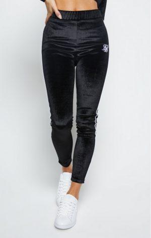SikSilk  Velour Piping Leggings – Black