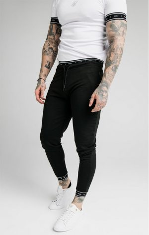 SikSilk  Active Muscle Fit Jogger – Black
