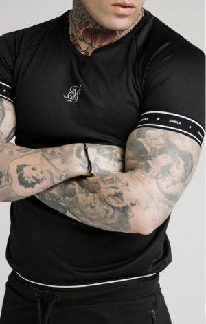 SikSilk Active Tech Tee – Black
