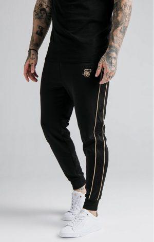 SikSilk Astro Cuffed Track Pants – Black & Gold