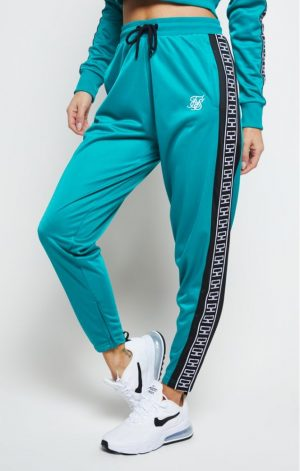 SikSilk Azure Track Pants – Teal