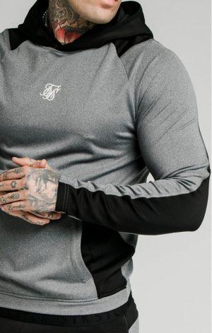 SikSilk  Endurance Overhead Hoodie – Grey & Black