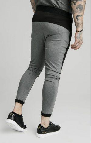 SikSilk  Endurance Track Pants – Grey & Black