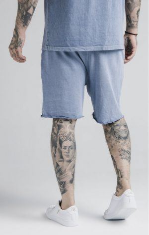 SikSilk Relaxed Shorts – Washed Blue