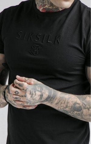 SikSilk  S/S Astro Gym Tee – Black