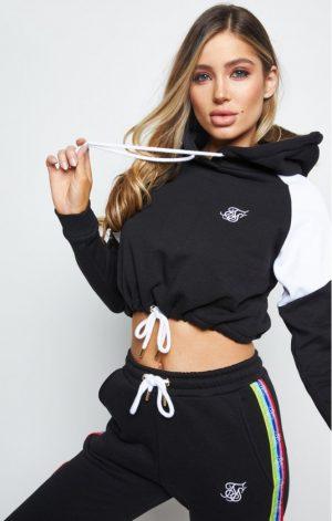 SikSilk  Spectrum Fleece Cropped Hood – Black