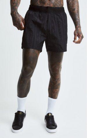 SikSilk Swim Shorts – Black & Grey
