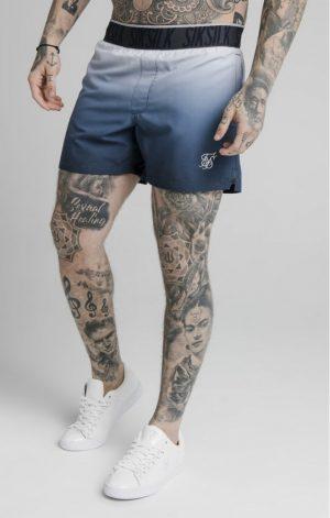 SikSilk Tape Fade Swim Shorts – Navy Lilac Fade