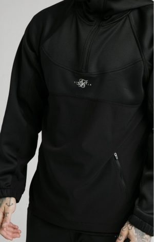 SikSilk Tranquil Quarter Zip Vent Pullover – Black