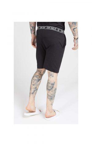 SikSilk Loose Fit Jersey Shorts – Black