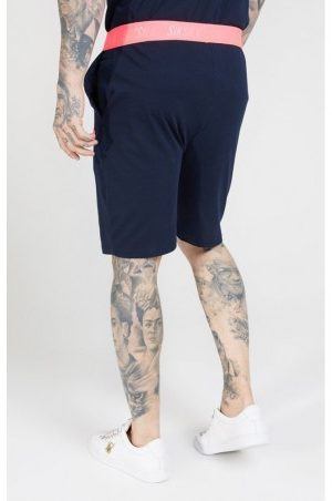 SIKSILK RELAXED FIT SHORTS – NAVY & NEON