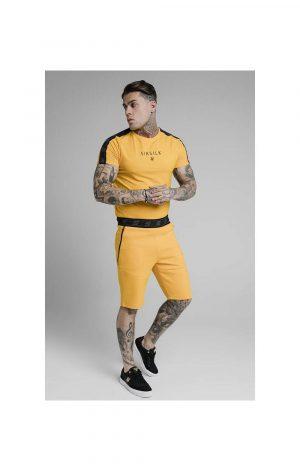 SikSilk S/S Raglan Exhibit Gym Tee – Yellow