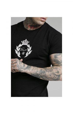 SikSilk S/S Prestige Holographic Tee – Black