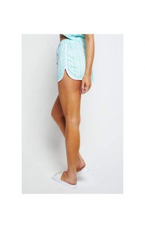 SikSilk Stripe Print Runner Shorts – Aqua