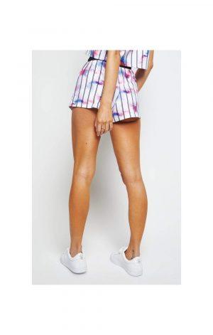 SikSilk Marble Tie Dye Shorts – White