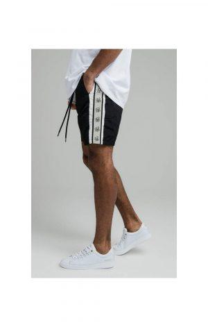 SikSilk Cali Tape Shorts – Black
