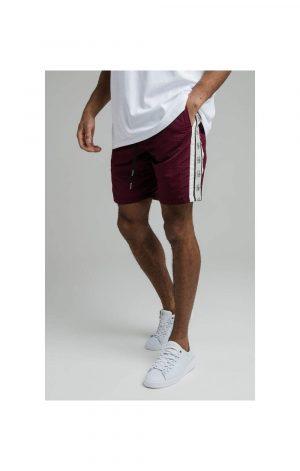 SikSilk Cali Tape Shorts – Burgundy