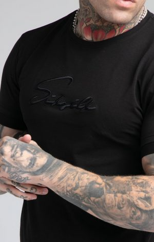 SikSilk S/S Signature Flight Tee – Black