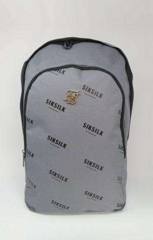 SikSilk Core Repeat Print Backpack – Grey