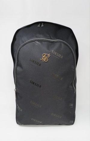 SikSilk Core Repeat Print Backpack – Black