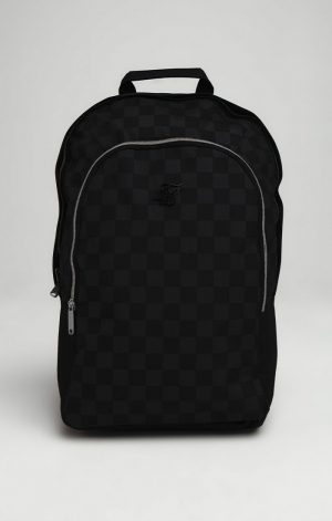 SikSilk Core Check Backpack – Black