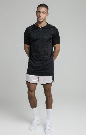 SikSilk Stretch Sports Tee – Black