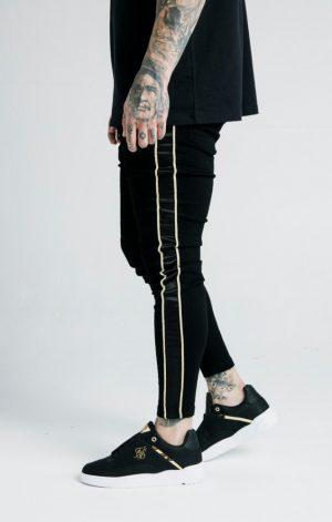 SikSilk x Dani Alves Skinny Rope Denim – Black