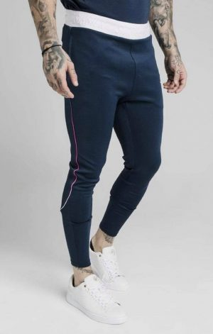 SikSilk Athlete Prestige Fade Track Pants – Navy