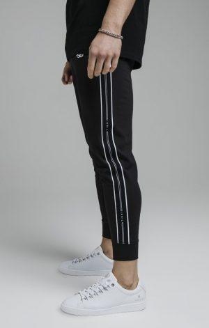 SikSilk Status Tape Cuffed Pants – Black