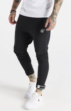 SikSilk Active Tape Cuff Pants – Black