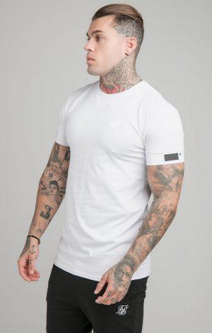 SikSilk S/S Active Cuff Gym Tee – White