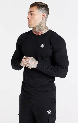 SikSilk L/S Gym Tee – Black