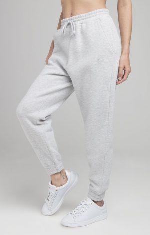SikSilk Oversize Jogger – Ice Grey Marl