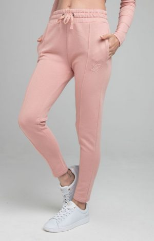 SikSilk High Waist Joggers – Pink