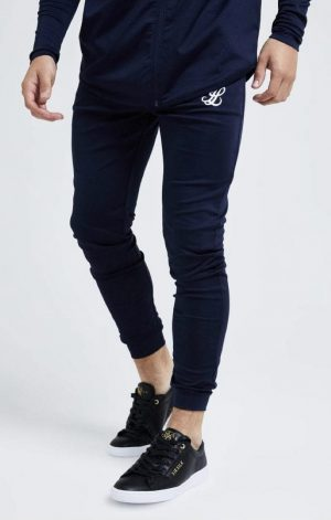 Illusive London Core Fitted Joggers – Navy